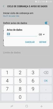 Como definir um aviso e limite de uso de dados - Samsung Galaxy J4+ - Passo 10
