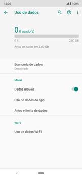 Como definir um aviso e limite de uso de dados - Motorola Moto E6 Plus - Passo 5