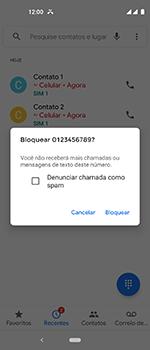 Como bloquear chamadas de um número específico - Motorola One Vision - Passo 7
