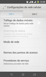 Como ativar e desativar uma rede de dados - Sony Xperia E1 - Passo 7
