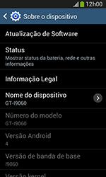 Como encontrar o número de IMEI do seu aparelho - Samsung Galaxy Grand Neo - Passo 5