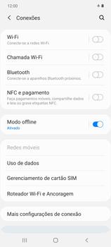 Como ativar e desativar o modo avião no seu aparelho - Samsung Galaxy Note 20 5G - Passo 5