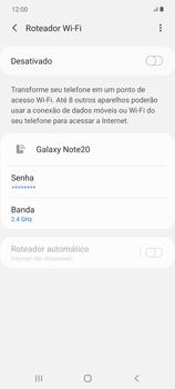 Como usar seu aparelho como um roteador de rede Wi-Fi - Samsung Galaxy Note 20 5G - Passo 10
