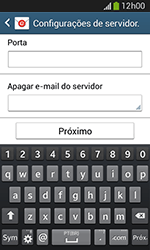 Como configurar seu celular para receber e enviar e-mails - Samsung Galaxy Grand Neo - Passo 11