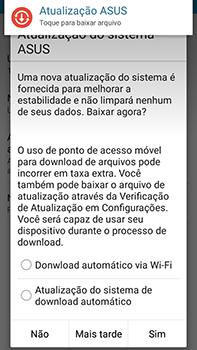 Como atualizar o software do seu aparelho - Asus ZenFone Go - Passo 8