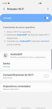 Como usar seu aparelho como um roteador de rede Wi-Fi - Samsung Galaxy S10 - Passo 12