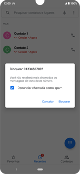 Como bloquear chamadas de um número específico - Motorola Moto E6 Plus - Passo 6