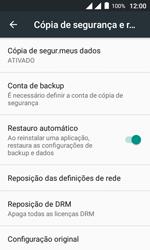 Como restaurar as configurações originais do seu aparelho - Alcatel Pixi 4 - Passo 5