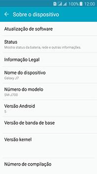 Como encontrar o número de IMEI do seu aparelho - Samsung Galaxy J7 - Passo 4