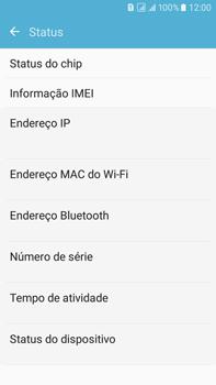 Como encontrar o número de IMEI do seu aparelho - Samsung Galaxy On 7 - Passo 5