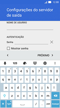 Como configurar seu celular para receber e enviar e-mails - Asus ZenFone Go - Passo 23