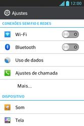 Como configurar uma rede Wi-Fi - LG Optimus L5 - Passo 3