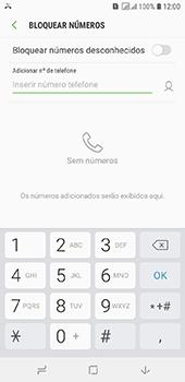 Como bloquear chamadas de um número específico - Samsung Galaxy J6 - Passo 7