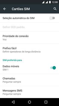 Como ativar e desativar uma rede de dados - Motorola Moto X Play - Passo 5