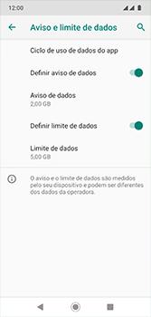 Como definir um aviso e limite de uso de dados - Motorola Moto G7 - Passo 15