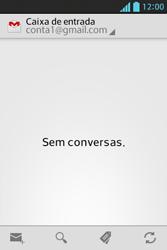 Como configurar seu celular para receber e enviar e-mails - LG Optimus L5 - Passo 4