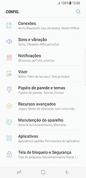 Como configurar uma rede Wi-Fi - Samsung Galaxy S8 - Passo 3