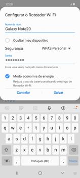 Como usar seu aparelho como um roteador de rede Wi-Fi - Samsung Galaxy Note 20 5G - Passo 8