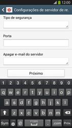 Como configurar seu celular para receber e enviar e-mails - Samsung Galaxy S IV - Passo 9