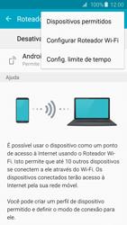 Como usar seu aparelho como um roteador de rede Wi-Fi - Samsung Galaxy S6 - Passo 6