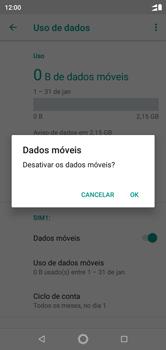Como ativar e desativar uma rede de dados - Motorola One - Passo 6