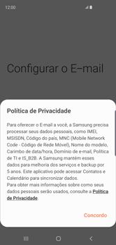 Como configurar seu celular para receber e enviar e-mails - Samsung Galaxy S10 - Passo 10