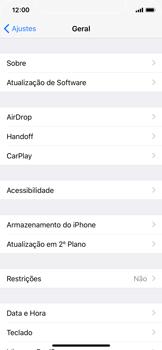 Como encontrar o número de IMEI do seu aparelho - Apple iPhone X - Passo 3