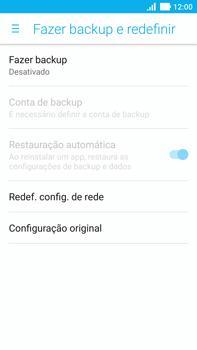 Como restaurar as configurações originais do seu aparelho - Asus ZenFone 3 - Passo 5