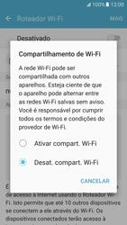 Como usar seu aparelho como um roteador de rede Wi-Fi - Samsung Galaxy S7 - Passo 5