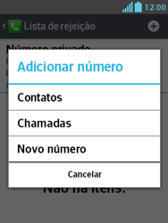 Como bloquear chamadas de um número específico - LG Optimus L3 II - Passo 8