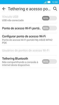 Como usar seu aparelho como um roteador de rede Wi-Fi - Asus ZenFone Go - Passo 5