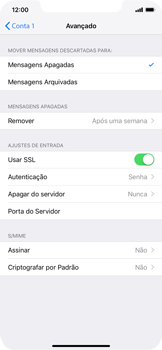 Como configurar seu celular para receber e enviar e-mails - Apple iPhone XR - Passo 22