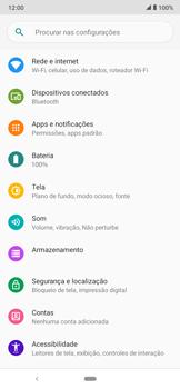 Como ativar e desativar uma rede de dados - Motorola Moto E6 Plus - Passo 3