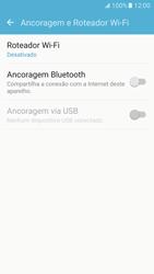 Como usar seu aparelho como um roteador de rede Wi-Fi - Samsung Galaxy S7 - Passo 4