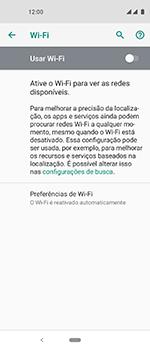 Como configurar uma rede Wi-Fi - Motorola One Vision - Passo 5