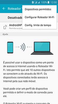 Como usar seu aparelho como um roteador de rede Wi-Fi - Samsung Galaxy J7 - Passo 6