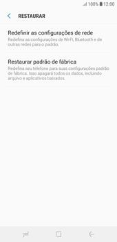 Como restaurar as configurações originais do seu aparelho - Samsung Galaxy J4 Core - Passo 6