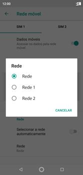 Como selecionar o tipo de rede adequada - Motorola One - Passo 9