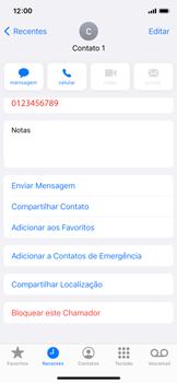 Como bloquear chamadas de um número específico - Apple iPhone 11 Pro - Passo 4