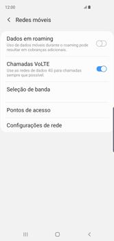 Como ativar e desativar o roaming de dados - Samsung Galaxy S10 - Passo 5