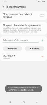 Como bloquear chamadas de um número específico - Samsung Galaxy A32 5G - Passo 11