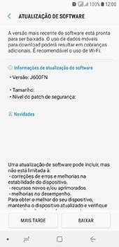 Como atualizar o software do seu aparelho - Samsung Galaxy J6 - Passo 7