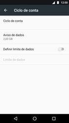 Como definir um aviso e limite de uso de dados - Motorola Moto G5 Plus - Passo 5