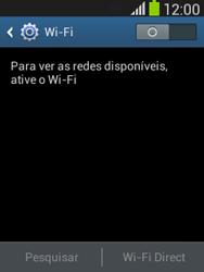 Como configurar uma rede Wi-Fi - Samsung Galaxy Pocket - Passo 4