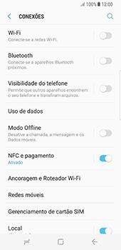 Como ativar e desativar uma rede de dados - Samsung Galaxy S8 - Passo 4