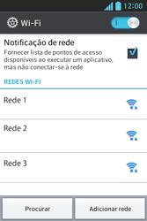 Como configurar uma rede Wi-Fi - LG Optimus L5 - Passo 5