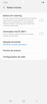 Como conectar à internet - Samsung Galaxy Note 20 5G - Passo 12