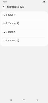 Como encontrar o número de IMEI do seu aparelho - Samsung Galaxy A20 - Passo 6