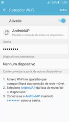 Como usar seu aparelho como um roteador de rede Wi-Fi - Samsung Galaxy S7 Edge - Passo 11
