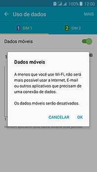 Como ativar e desativar uma rede de dados - Samsung Galaxy J7 - Passo 6